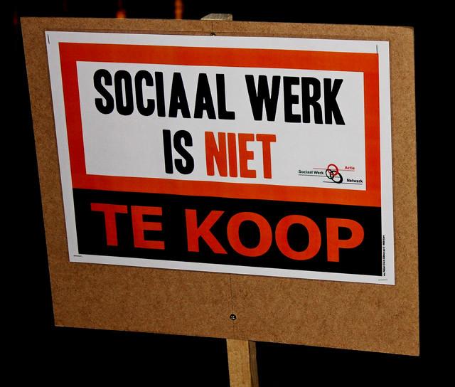 Sociaal werk actie OCMW-Raad // Foto's: Liesbeth