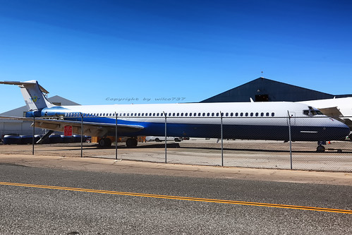 Bluesky Airlines Congo McDonnell Douglas MD83 stored at VCV