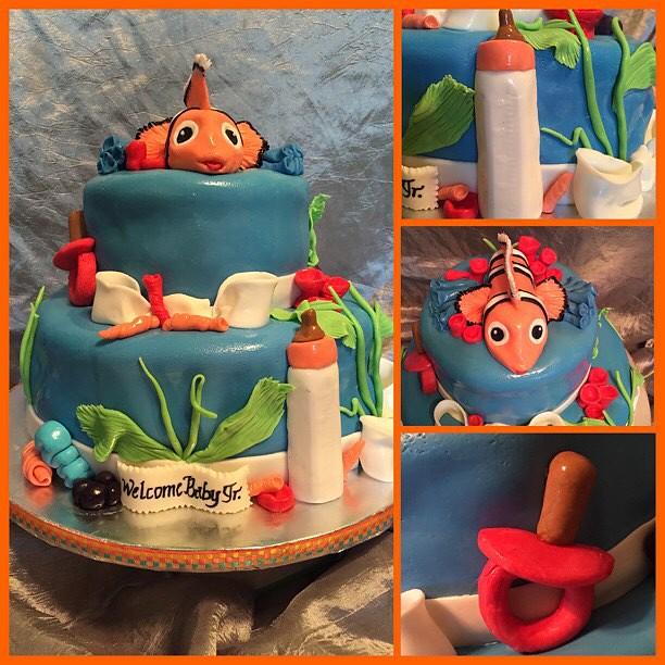 Nemo Themed Baby Shower Cake Ayanna Thompson Flickr
