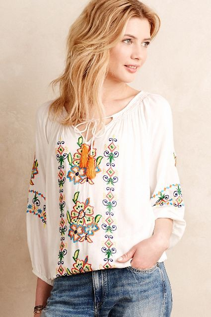 ... Peasant Blouse Outfits -12 Cute Ways to Wear Peasant Tops  dc8e737c6