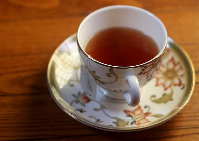 Choice Organic Tea on Red Oak Floor