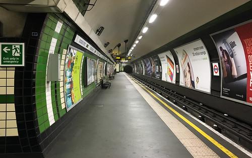26th December 2015 - Deserted Goodge Street Tube Station