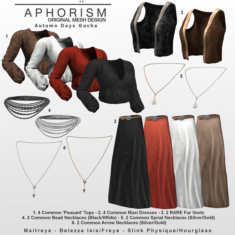 !APHORISM! Autumn Days Gacha