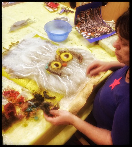 Owl felting at FBS Waiblingen | by herbe_d