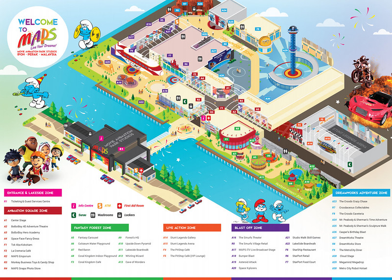 Movie Animation Park Studios map