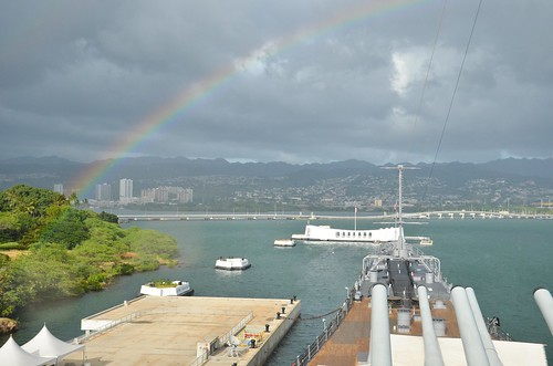 USS Missouri - Rainbow & USS Arizona Memorial