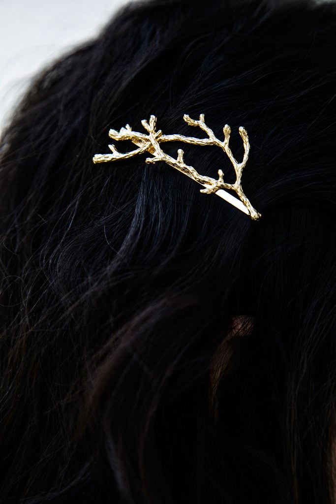 Modern Hair Accessories Twig Hair Pin, christmas gift under $20