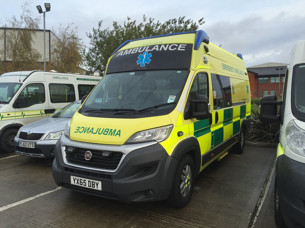 Awaiting To Enter Service With Yorkshire Ambulance Is YX65DBY Fiat Ducato A WAS Conversion