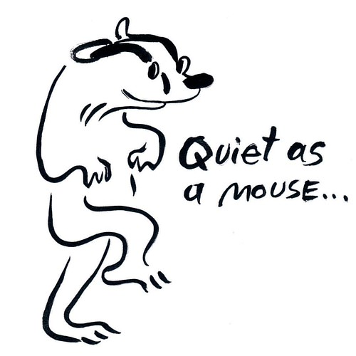 Badger is quiet asa mouse today! Inktober Day23 #inktober2016 #badger #badgerlog #inktober #parenting #quiet #asamouse #mouse