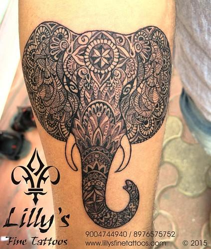 Tattoo Designs Deepak: Unique Mandala Elephant Tattoo Done Few Days Ago. Loved Do