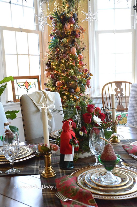 Christmas Tablescape-Sugared Fruit Tree-Christmas-Housepitality Designs