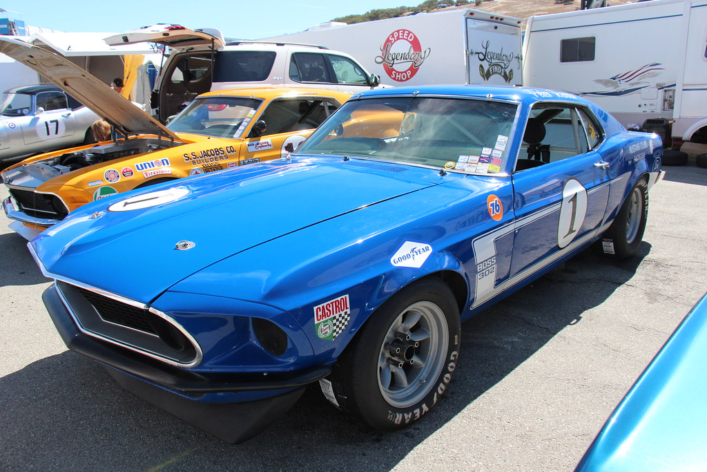 1969 ford mustang boss 302 race car acapulco blue fords p flickr 1969 ford mustang boss 302 race car by sicnag freerunsca Choice Image