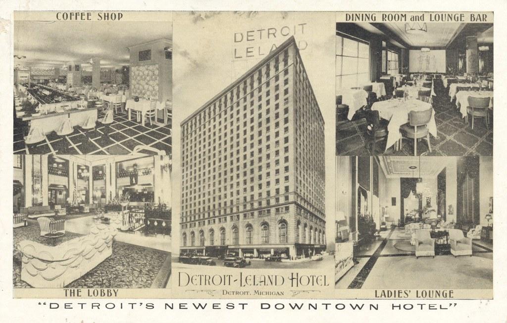 Detroit-Leland Hotel - Detroit, Michigan (Lumitone)
