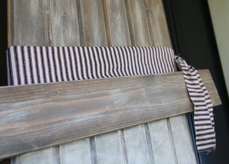 Black White Stripe Ribbon