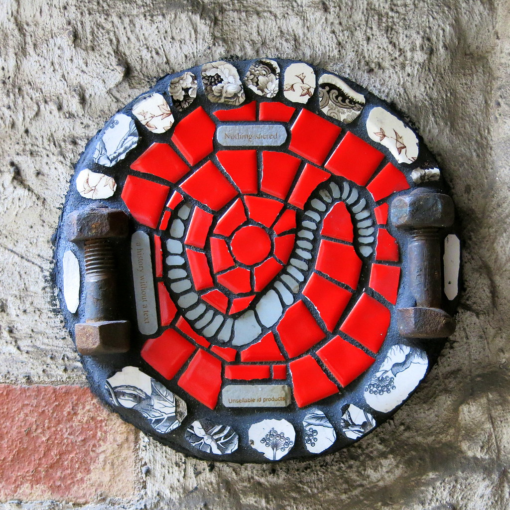 A small mosaic of nuts bolts bits of ceramic tile by b flickr a small mosaic of nuts bolts bits of ceramic tile by brighton artist doublecrazyfo Image collections
