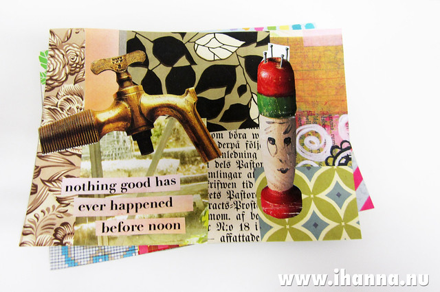 Two filmed postcards with @ihanna #collage #tutorial #diy