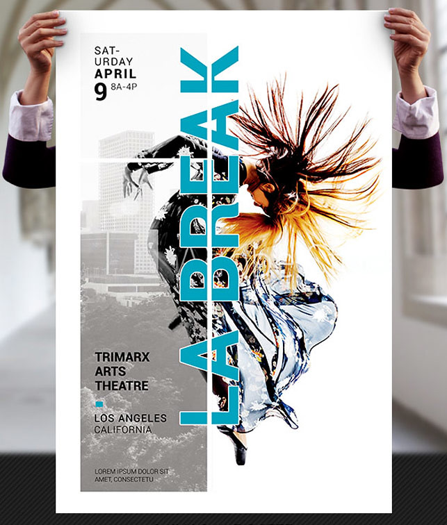 dance theatre flyer and poster template dance theater flye flickr
