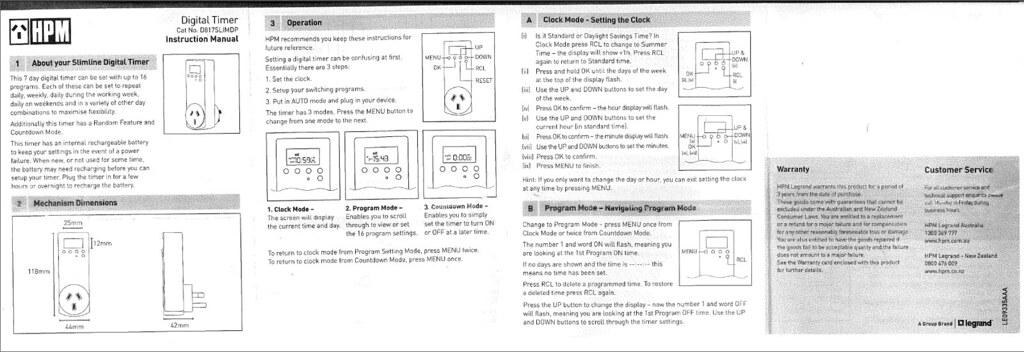 hpm digital timer instruction manual page 1 d8175limdp doug rh flickr com instruction manual meaning in urdu user manual meaning in urdu