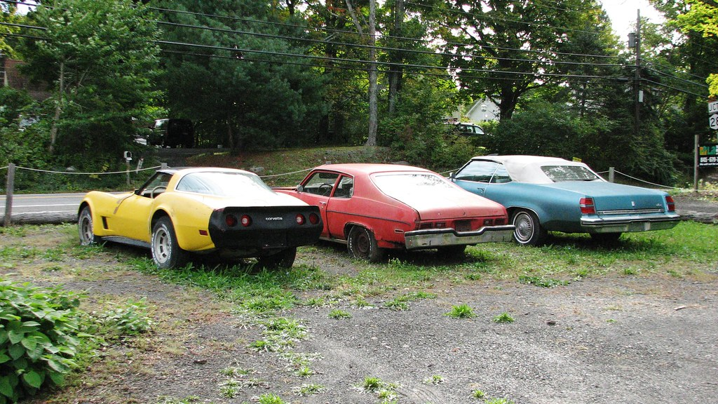 THREE OLD GM CARS IN OCT OCT 2015 | A late 1970\'s early 80\'s… | Flickr