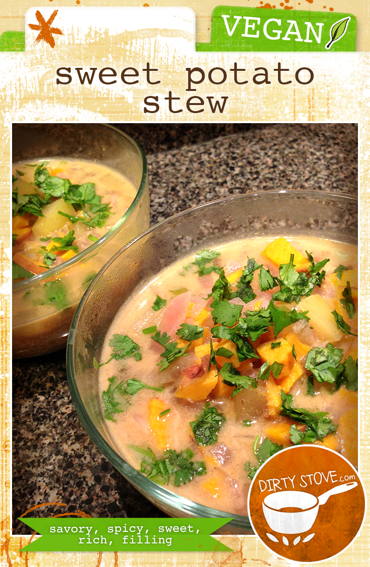 Vegan Sweet Potato Stew Recipe | DirtyStove.com