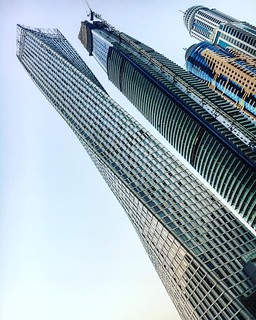 Some of the tallest #buildings in #DubaiMarina #Dubai #architecture #CayanTower #towers #skyscrapers | by Silvana Rees