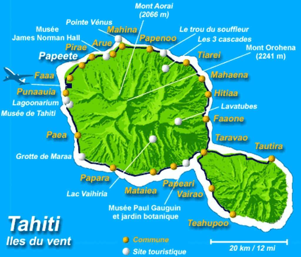 IMG001/French Polynésia/Tahiti Island/Map | Tahiti , French … | Flickr