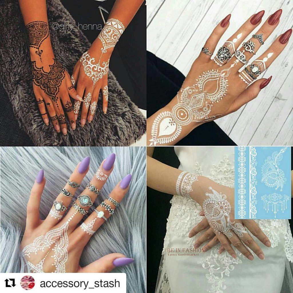 Repost Accessory Stash White Henna Tattoo Sheets Ma Flickr
