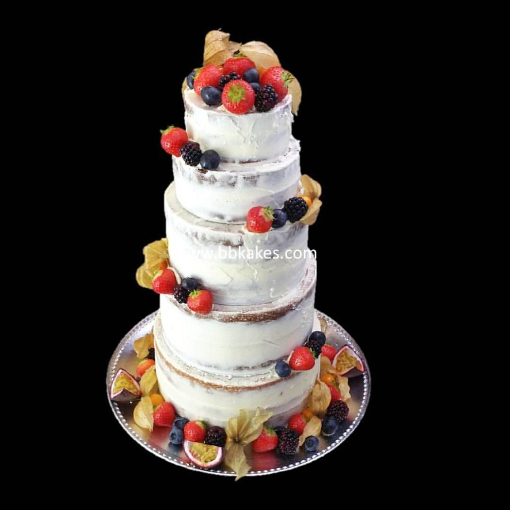 Five Tier Five Flavour Naked Cake By Bbkakes Autumn Libr Flickr