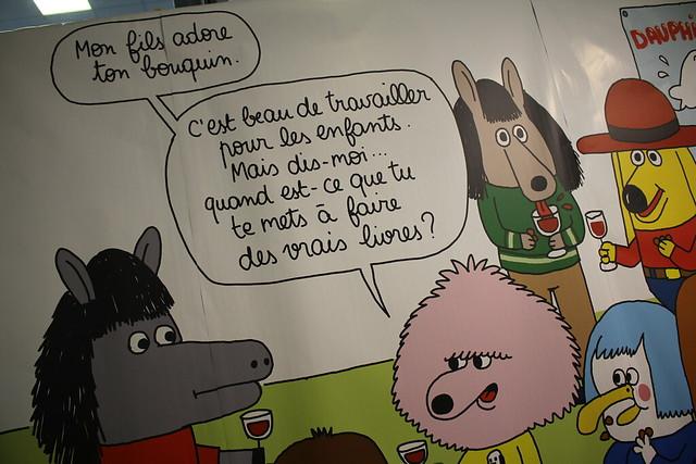 Le stand de La Charte, par Anouk Ricard - Salon du Livre et de la Presse Jeunesse (SLPJ) - Montreuil