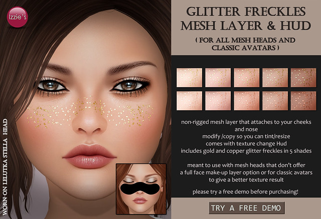 Glitter Freckles Mesh Layer & Hud