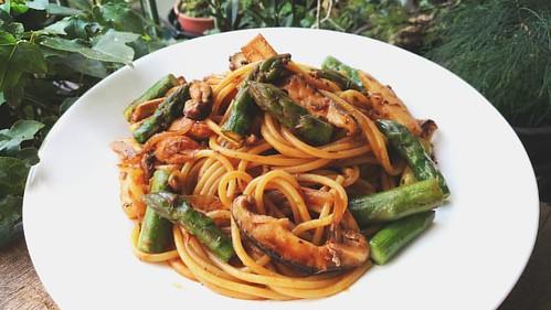自製午餐:茄汁鮪魚時蔬義大利麵  #food #義大利麵 #homecook #pasta #spaghetti