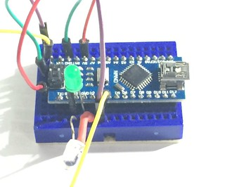 Blynk keyless entry breadboard prototype | by Christopher Biggs