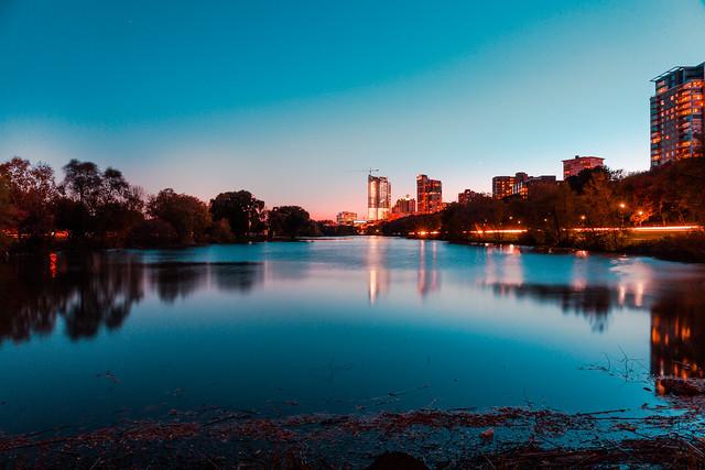 Urban Park at Twilight