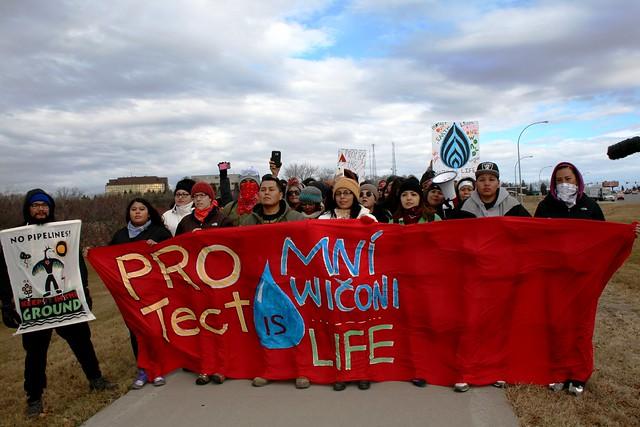 Protestors at Standing Rock