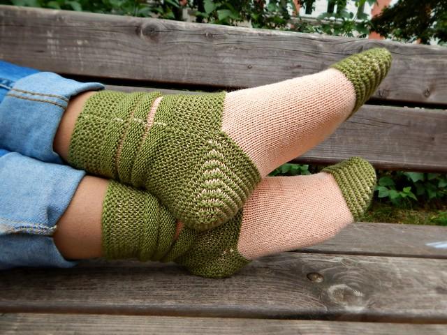 розово-зелёные носки 1