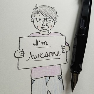 3/31 Awesome #inktober #inktober2016 | by trishsworld