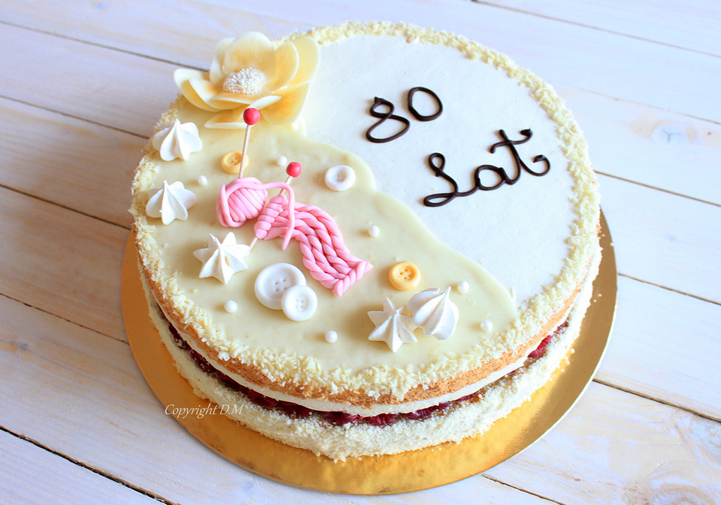 Birthday Cake For 80 Years Old Dm Flickr