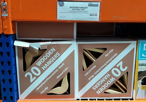 Wooden hangers at S&R membership shopping | by Dewmaine Sales-Ladaga