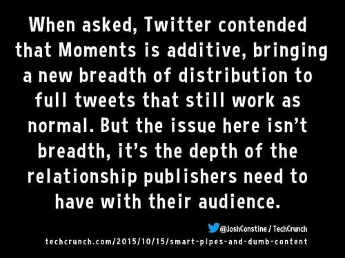 Twitter Moments 10.2015 @JoshConstine / TechCrunch