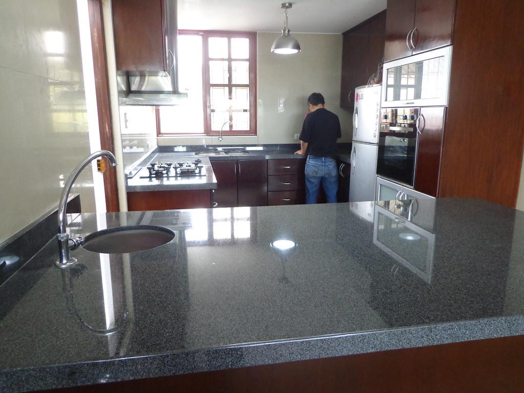 Increíble Isla De Cocina Con Encimera De Granito Imagen - Ideas Del ...