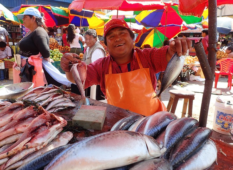Pescadero, mercado de Chiclayo.