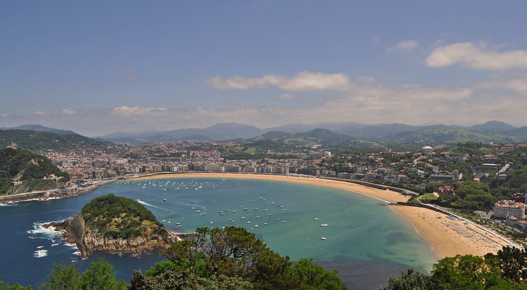 Spain - San Sebastian / Donostia - view from Monte Igueldo