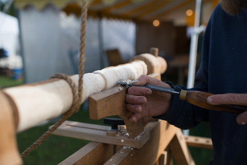 Common Ground Country Fair Wood Worker Carving with Pole Lathe | by goingslowly