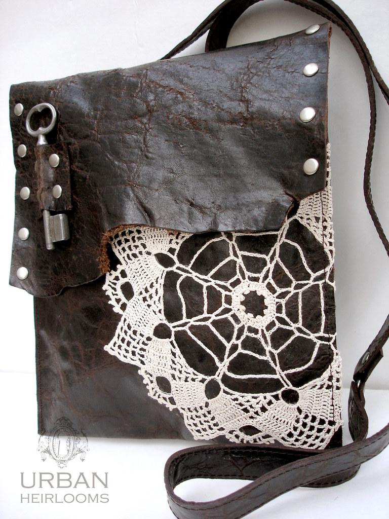 d5e99c9bc9 ... Leather and Lace Boho Messenger Bag