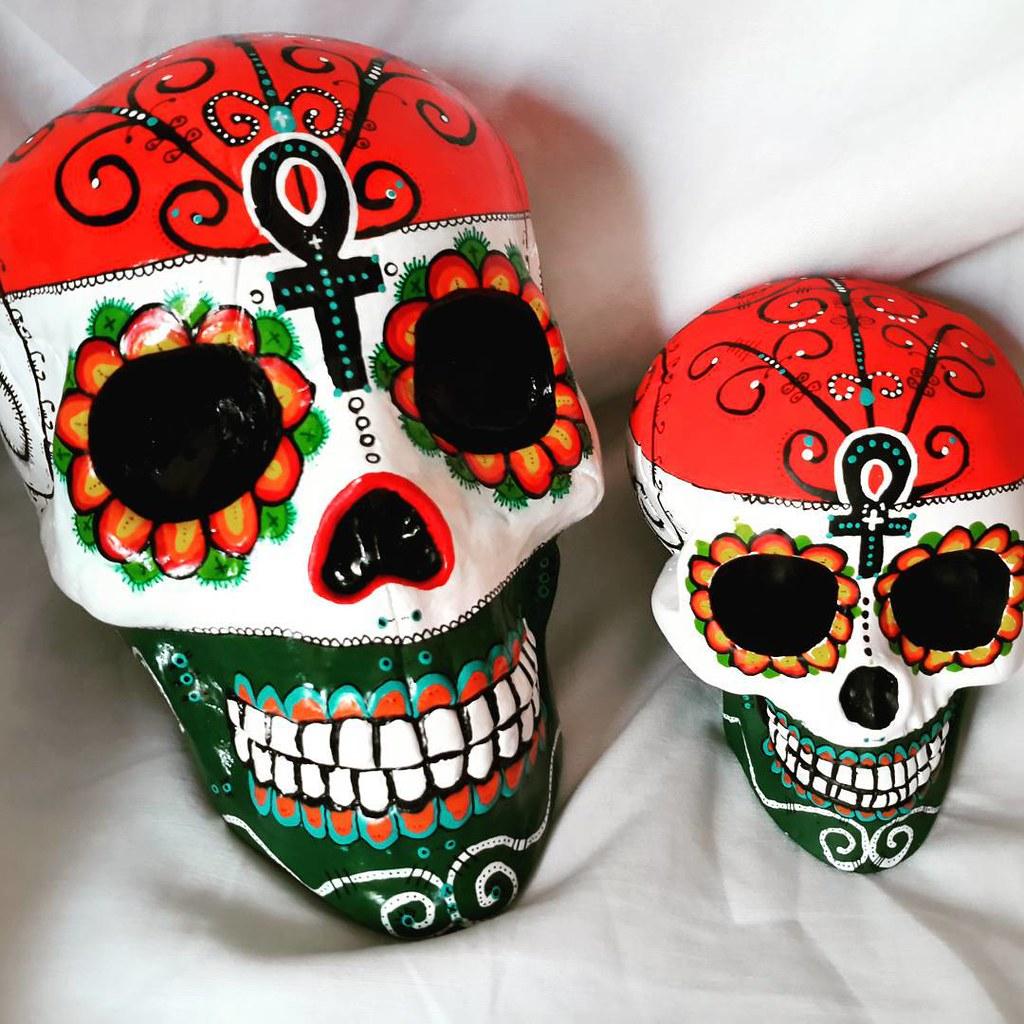 Calavera Personalizada Estilo Mexicano Decorada Con Dibu Flickr