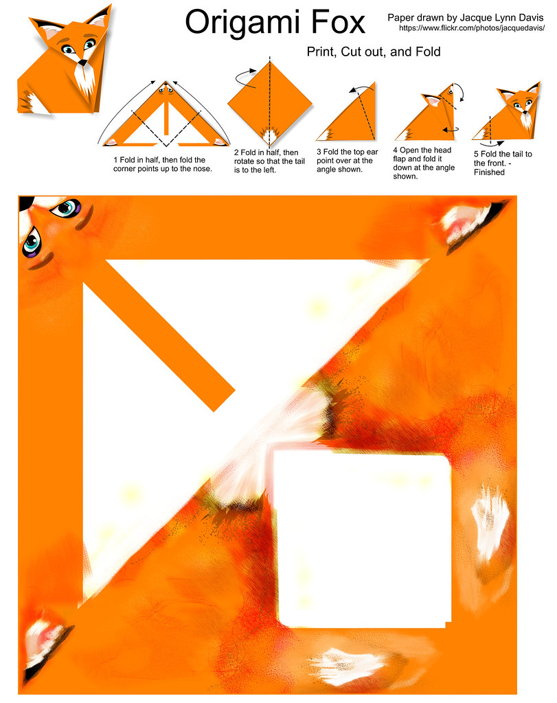 Origami Fox Instructions And Paper You Can Download And Pr Flickr