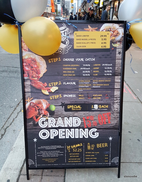 The Boil Bar grand opening special