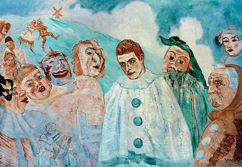 James Ensor - The Despair of Pierrot, 1892