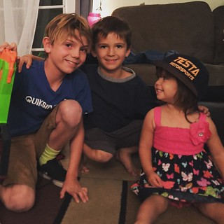 Scotty loves hanging out with her big brothers and wearing @kananwebb hat. | by Owen and Theresa