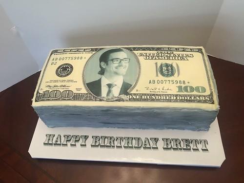 Free Birthday Money ~ Dollar bill birthday cake lady wpb flickr